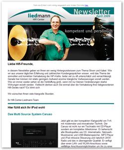 Newsletter Liedmann